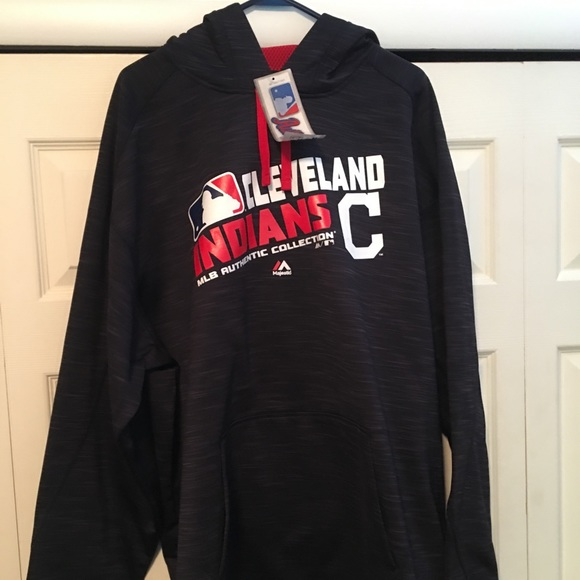 purchase cheap ed314 2c9bc Cleveland Indians Majestic 2XL Hoodie. NEW NWT